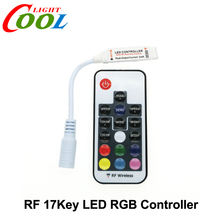 LED RGB Controler DC12-24V 17key RF Wireless Remote Controller for RGB LED Strip.