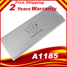 "6 Cell Laptop battery for Apple MacBook 13"" inch A1181 A1185 MA561 MA566 white Free shipping"