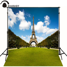 300*200cm(10ft*6.5ft) Eifel Tower blue wedding background photography backdrops fundo fotografico newborn(China)