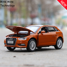 Double Horses 1:32 free shipping Audi A3 Alloy Diecast Car Model Pull Back Toy Electronic Car classical children Kids Toys