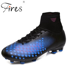 Fires New Trend Men Football Shoes Summer Autumn Soccer Shoes Long Spikes Training Shoes Male Comfortable Inside Sport Shoes(China)