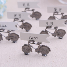 Free shipping new wedding supplies wedding table cards seat card metal bicycle table clip 200pcs