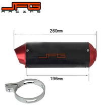 38MM CNC Alloy Exhaust Muffler with Clamp for XR50 CRF50 Coline Style Chinese Pit Bike dirt bike motorcycle Red(China)