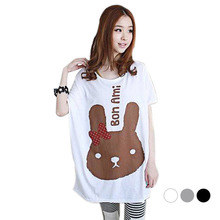 Cotton maternity t-shirt for pregnant women clothing summer series 2015 cartoon design(China)