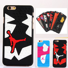 3D Jordan Shoe Sole PVC Rubber Case For iPhone 6 6S Jumpman 15 Phone Cases Cover For iphone 6 4.7 inch Free Shipping