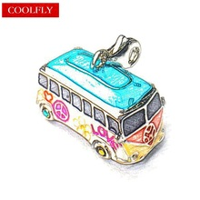 Vw Bus Charms Pendant For Jewelry Making Thomas Style Charm DIY Accessories European Gifts Fit Bracelet & Necklace Women Bijoux(China)