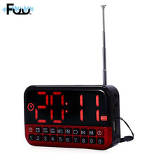 FUU L80 FM Radio Music Player Stereo TF Card Clocked USB Port with LED Display AM /FM Mini Portable Music clock radio usb player(China)