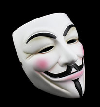 50pcs Guy Fawkes Mask V For Vendetta Mask Resin Collect Home Decor Party Cosplay Lenses Anonymous Mask