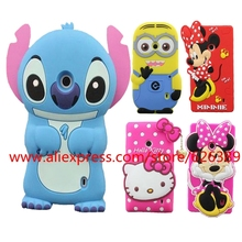 For Nokia Lumia 520 Case Cover 3D Cartoon Silicone Minnie Mouse Hello Kitty Stitch Minions Phone Cases For Nokia Lumia 520 N520