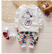 Newest 2016 Spring Baby Boys Girls Design suits Infant/Newborn Clothes Sets Kids Casual tracksuits Children Suits cartoon