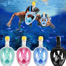 Medium Size Diving Mask Equipment Fun Diving Cover 3.9 Inches Inner Size full-dry Breathing Tube swimming masks P20