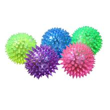1PC Puppy Dog Cat Pet Hedgehog Rubber Ball Bell Sound Ball Fun Glowing Play Toy Cachorro Dog Toys Pet Supplies(China)