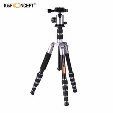 K&F CONCEPT Lightweight Camera Tripod of Flexible Aluminum with 2-section Center Column+5-Section Adjustable-height for DSLR(China)