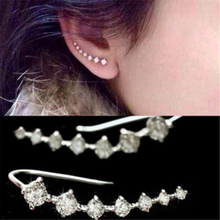 RONGQING 10Pairs/lot Fashion 7 Crystals Linked Earring Women Big Dipper Earring Female Jewelry