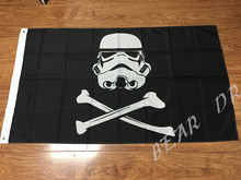 3x5ft Star Wars Stormtrooper Pirate Flag 100D Polyester Free Shipping(China)