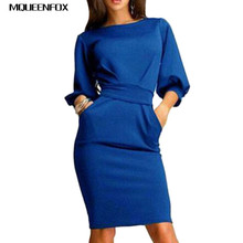 2017 New Spring Summer Women Half Sleeve Clubwear Formal Dress Women Dress Female Evening OL Bodycon Bow Mini Dresses