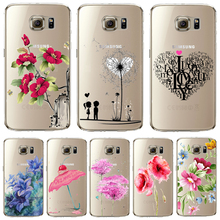 Soft TPU Cover For Samsung Galaxy S6edge S6 edge Plus Case Phone Crystal Ultra Thin Painted Fresh Fruit Dandelion Top Style Best