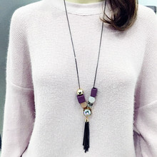 Dominated Women Long Crystal Tassel Sweater Chain Decoration Necklace Wholesale