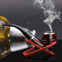 Hot pipe non-wood pipe bending type filter and durable smoking pipe best gift to friends or family