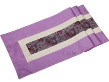 200*33cm Noble Chinese Vintage Mixed Brocade& Silk Beautiful Purple Table Runner Cloth& Bed Flag