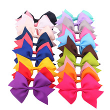 20pcs/lot  Kids Hair Ribbon Bows WITH Clip  Girls Decorative Boutique PinWheel Bows Clips Kids Hair Accessories A22