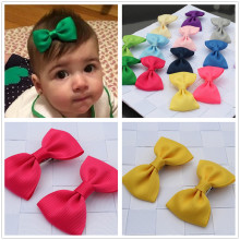 2pcs bowknot girl kids mini hair clip hairgrip satin hair ribbon bows hairpin accessories for girls hair clips hairclip barrette