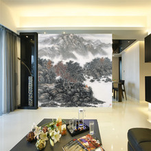 Vintage Chinese Style Landscape Painting Photo Wallpaper Art Wall Mural Custom Non-woven Canvas ROOM DECOR TV Background Wall