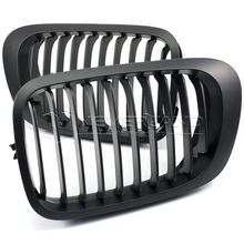1Pair Matte Black ABS Plastic Car Front Kidney Racing Grill Grilles For BMW E46 2 Door 3 Series 1998-2001 Coupe
