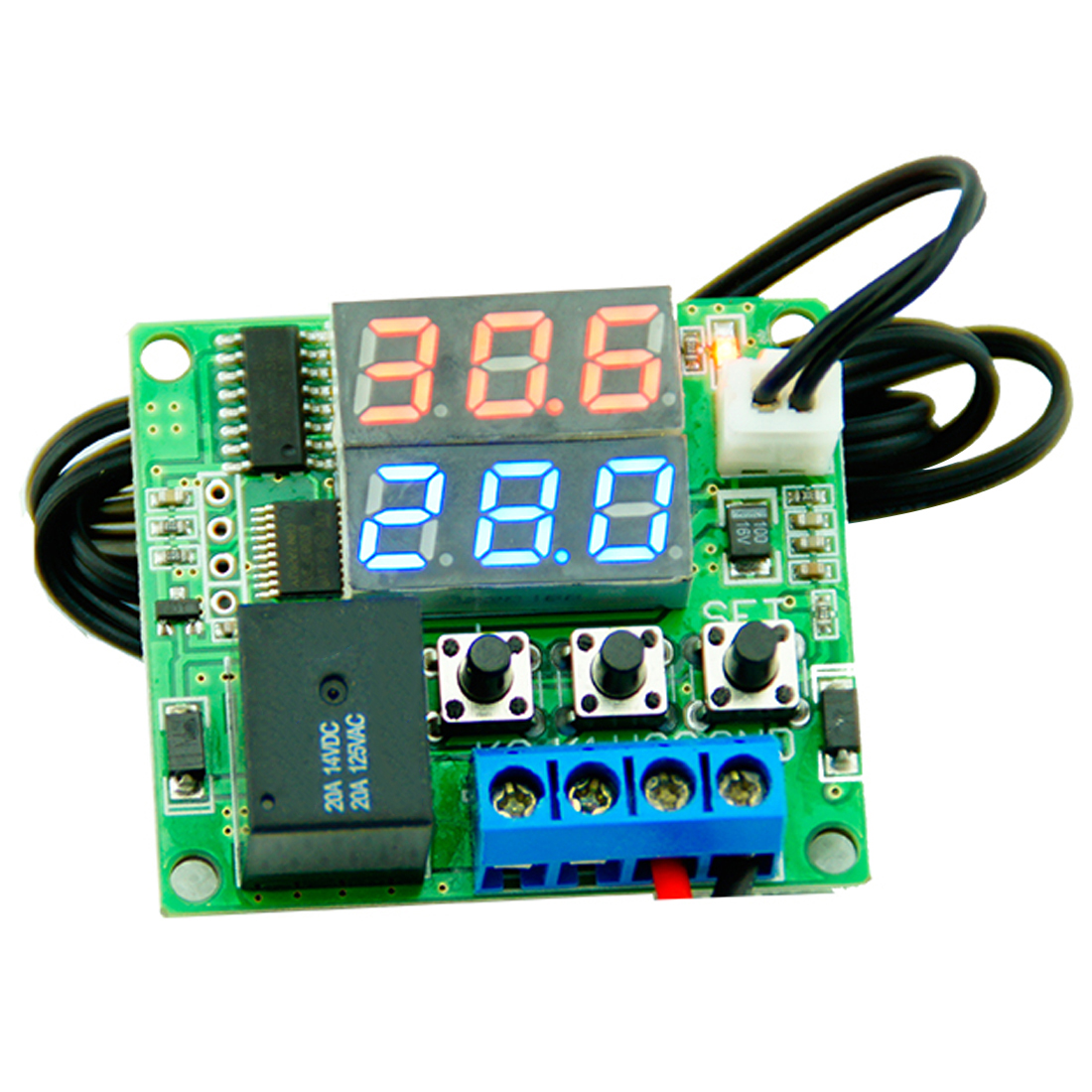 Regulator Switch Control DC 12V Dual LED Digital Display Thermostat Temperature Controller Relay NTC Sensor Module