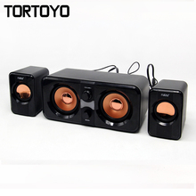 A set Super Stereo Bass 3D Surround HIFI Multimedia Player Subwoofer PC USB Speaker Loudspeaker for PC Computer Laptop Notebook