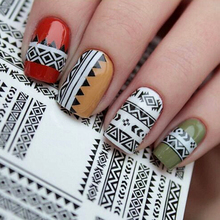 LNRRABC Fashion Simple Nail Art Sticker 3D Design Water Transfer Stickers Manicure Tips Hollow Decal Decoration Sticker & Decal