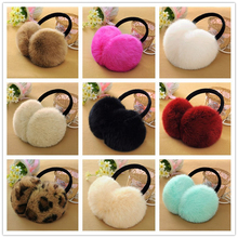The new real rabbit fur. Ear protection earmuffs plush. Cute earmuffs men and women(China)