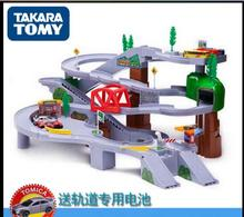 Genuine TOMY Meika Auto building high-speed road circling alloy car track boy toy gifts for children Cars Free Delivery