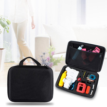 Portable Black EVA Storage Box For Camera Parts Zipper Bag Case For GoPro Hero 22.5cm X17.5cm X 6.7cm