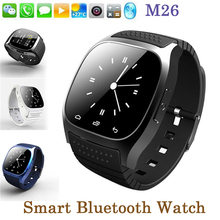 2017 hot Bluetooth Smart watch Android Smartwatch M26 For Phone Sony Huawei Xiaomi Android Phones