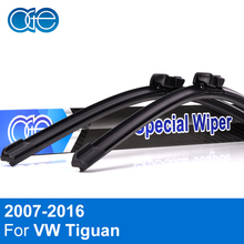 Oge Wiper Blades For VW Tiguan 2007 2008 2009 2010 2011 2012 2013 2014 2015 2016 High Quality Rubber Windscreen Car Accessories(China)