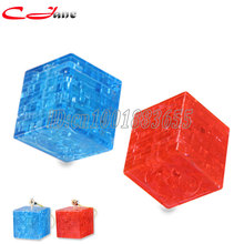Free shipping Hot-selling  Cube 3d stereoscopic crystal puzzle. Fight inserted plastic for children's educational toys