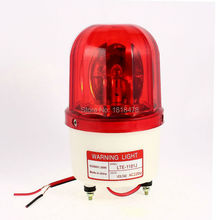 LTE-1101J AC220V Industrial AC 220V AC110V DC12V DC24V Flash Siren Emergency Rotary Warning Lamp Light Red(China)