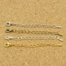 30PC 70mm Necklace Bracelet Extended&Extension Jewelry Chains/Tail Extender Chain Drops With Lobster Clasps DIY Findings Y1199