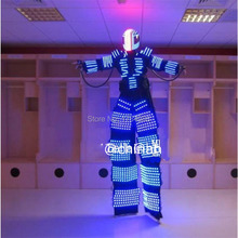 New design RGB full colors LED robot /LED costumes with helmet for dance satge show event night club and party supply