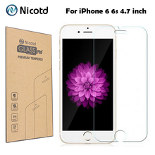 Premium 9H 0.3mm 2.5D Arc 9H Scratch-resistant Tempered Glass for iPhone 6 6s Explosion Proof Toughened Screen Protector Film