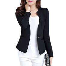 Buy 2018 Fashion Spring Women Slim Blazer feminino Coat Casual Jacket Long Sleeve One Button Suit Black Ladies Blazers Work Wear for $16.11 in AliExpress store