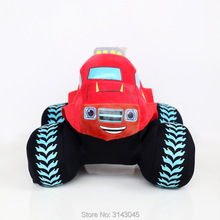 Newest Super Cool 20cm Blaze Monster Machines Red Car Cartoon Video Movies Kids Boys Birthday Gift Animals Stuffed Plush Toys(China)