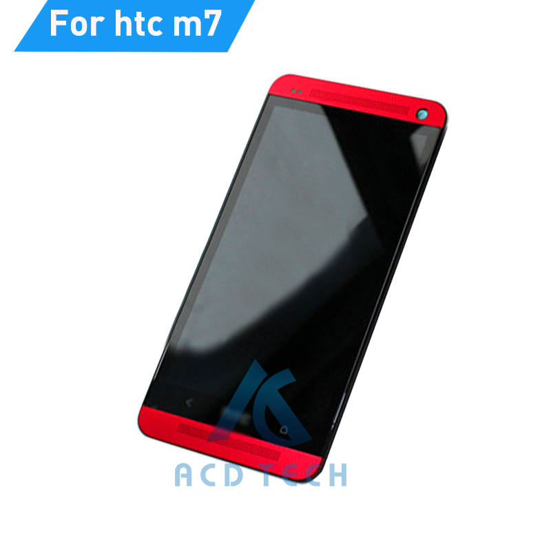 For HTC one m7 801e LCD Screen With Touch display Digitizer Assembly replacement with frame +Tools Free Shipping<br>