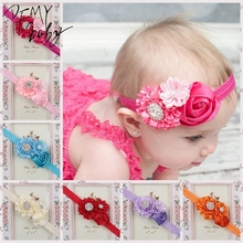Buy Baby Headband Chic Flower Shimmer Rhinestone Girls Headband Hair Flower Headband Baby Girl Children Hair Accessories for $1.11 in AliExpress store