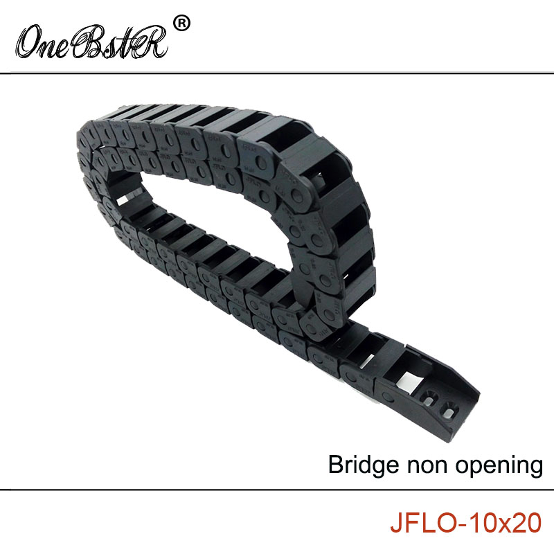 JFLO 10x20mm 1000mm Drag chain Wire Carrier cable Bridge non opening type Towline Protection Tanks chain with end connectors<br><br>Aliexpress