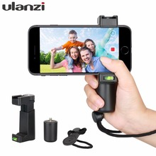 "Ulanzi Handheld Phone Video Holder Clamp Grip Bracket Stabilizer with Hot Shoe 1/4"" Screw,Phone Tripod Mount for iPhone Andriod"