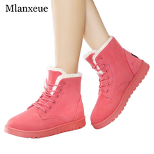 Mlanxeu Winter Style Fashion Plush Snow Boots Women Keep Warm Cotton Shoes 2016 Famous Design Boots Women Leisure Snow Boots
