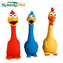 Pet Toy Yellow Screaming Rubber Chicken Pet Toy Rubber Chicken Pet Toy Three Colors Blue Yellow and Red(China)