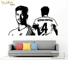 Sergio Ramos Soccer Player Wall Sticker Removable Home Decoration Sports Football Player Vinyl